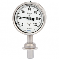 Манометрический термометр для санитарных применений модель 74