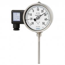 Манометрический термометр с электрическим выходным сигналом из нержавеющей стали Модели TGT73.100 и TGT73.160