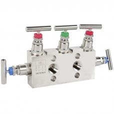 Вентильный блок (манифольд) для приборов измерения дифференциального давления 3-, 5-вентильный блок.